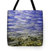 Wall Of Silver Fish Tote Bag
