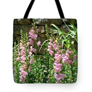 Wall Of Snapdragons Tote Bag