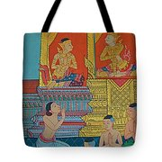 Wall Painting 2 In Wat Po In Bangkok-thailand Tote Bag