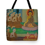 Wall Painting 3 In Wat Po In Bangkok-thailand Tote Bag