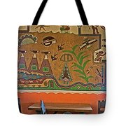 Wall Painting In Painted Desert Inn Cafe In Petrified Forest National Park-arizona  Tote Bag