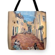 Wall Painting In Provence Tote Bag