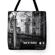 Wall St Station Tote Bag