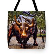 Wall Street Bull Tote Bag