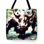 Wall Street Bull - Typography Tote Bag