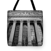 Wall Street New York Stock Exchange Nyse Bw Tote Bag