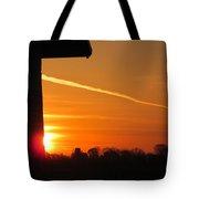 Wall Sunrise Tote Bag