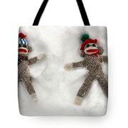 Wally And Petey Snow Angels Tote Bag