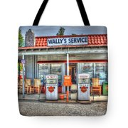 Wally's Service Station Tote Bag by Dan Stone