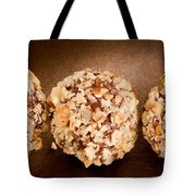Walnut Chocolate Truffles On Brown Tote Bag