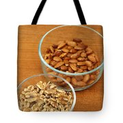 Walnuts And Almonds Tote Bag