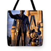 Walt And Mickey Tote Bag
