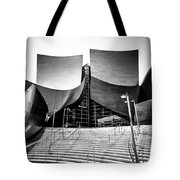 Walt Disney Concert Hall In Black And White Tote Bag by Paul Velgos