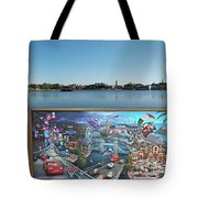Walt Disney World Cars 2 Digital Art Composite 02 Tote Bag
