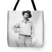 Walt Whitman Frontispiece To Leaves Of Grass Tote Bag by American School
