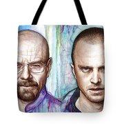 Walter And Jesse - Breaking Bad Tote Bag by Olga Shvartsur