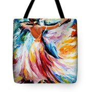 Waltz - Palette Knife Oil Painting On Canvas By Leonid Afremov Tote Bag