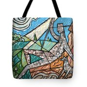 Wanderer With Dog Tote Bag