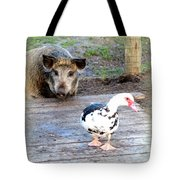The Pig Want To Be Your Friend, Mr Duck  Tote Bag