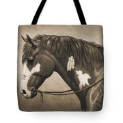 War Horse Aged Photo Fx Tote Bag