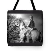 War Horses - 8th Pennsylvania Cavalry Regiment Pleasonton Avenue Sunset Autumn Gettysburg Tote Bag by Michael Mazaika