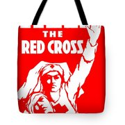 War Poster - Ww1 - Help The Red Cross Tote Bag