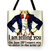 War Poster - Ww1 - Uncle Sam Savings Tote Bag