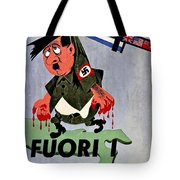 War Poster - Ww2 - Out With The Fuhrer Tote Bag