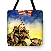 War Poster - Ww2 - Iwo Jima Tote Bag