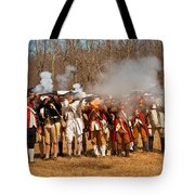 War - Revolutionary War - The Musket Drill Tote Bag by Mike Savad