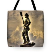War Thunder - The Clouds Of War 1b - 4th New York Independent Battery Above Devils Den Gettysburg Tote Bag by Michael Mazaika