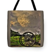 War Thunder - The Clouds Of War 2a - 4th New York Independent Battery Above Devils Den Gettysburg Tote Bag