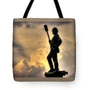 War Thunder - The Clouds Of War - 4th New York Independent Battery Near Devils Den Gettysburg Tote Bag