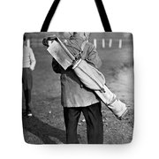 War Time On The Golf Course Tote Bag