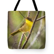 Warbler In Sunlight Tote Bag