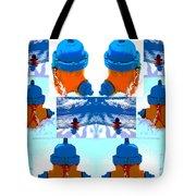 Warhol Firehydrants Tote Bag