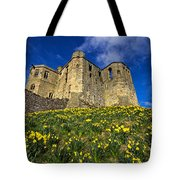 Warkworth Castle In Spring Tote Bag