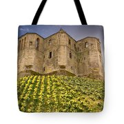 Warkworth Castle In The Sky Tote Bag