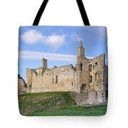Warkworth Castle Panorama Tote Bag