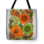 Warm And Green Tote Bag
