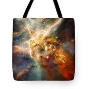 Warm Carina Nebula Pillar 3 Tote Bag by Jennifer Rondinelli Reilly - Fine Art Photography