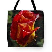 Warm Colored Rosebud  Tote Bag