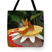 Warm Colorful Butterflies Tote Bag