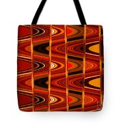 Warm Colors Lines And Swirls Abstract Tote Bag