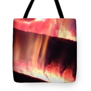Warm Glowing Fire Log Tote Bag