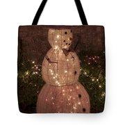 Warm Weather Snowman Tote Bag