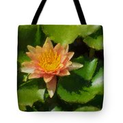 Warm Yellows Oranges And Corals - A Waterlily Impression Tote Bag