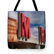 Warning M Rine Tote Bag