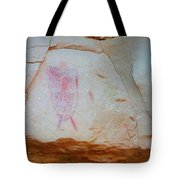 Warrior With Shield Pictogram Tote Bag