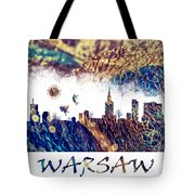 Warsaw Skyline Postcard Tote Bag